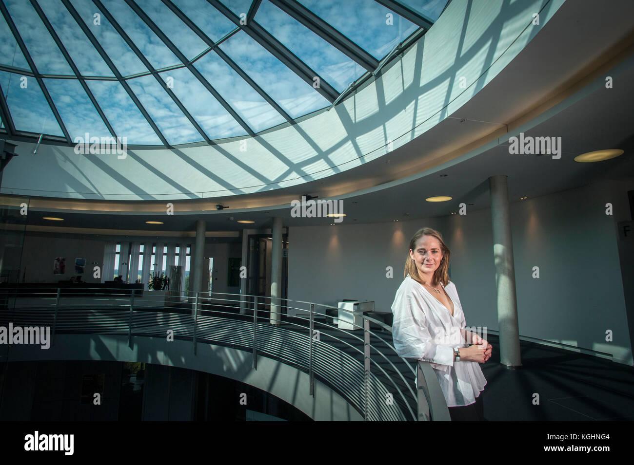 Anne Mette Høyer testa di rapporti di affari per SAP. Fotografato presso i loro uffici a Walldorf, Baden-Württemberg, Immagini Stock