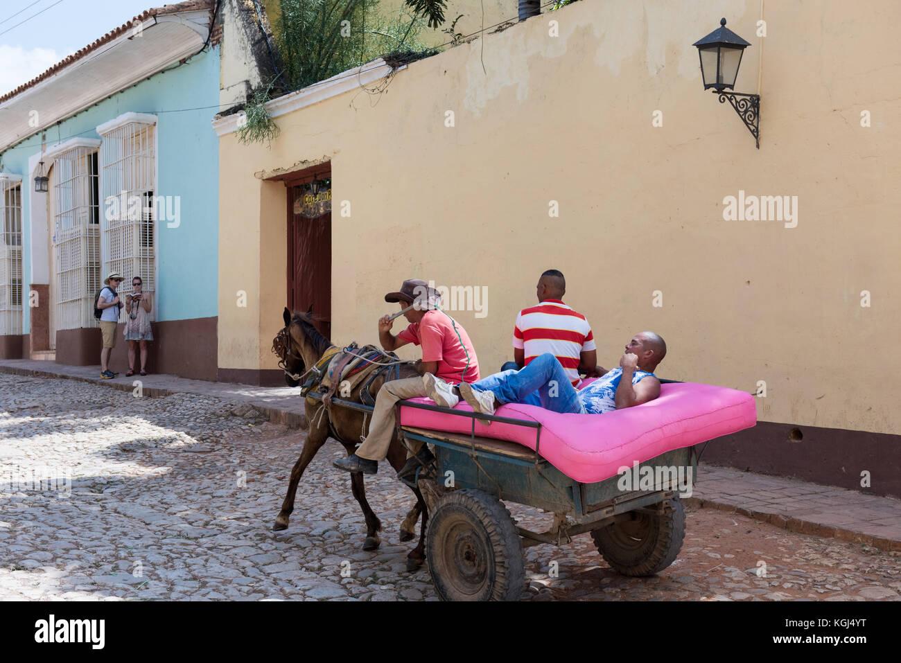 La vita quotidiana di Trinidad Cuba Immagini Stock