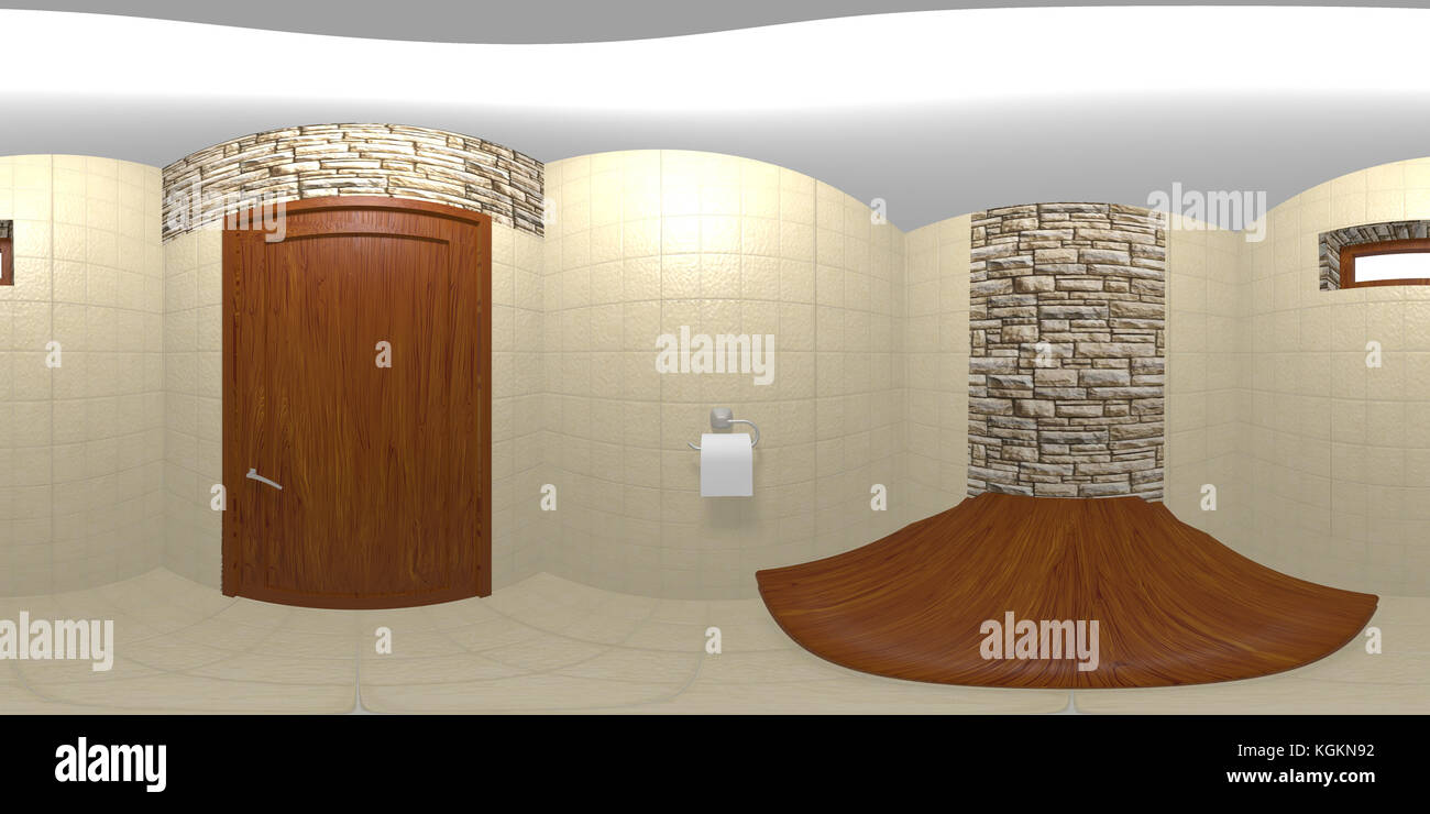 Bagno In Camera Piccolo : Un piccolo bagno in camera ambiente hdri mappa foto immagine