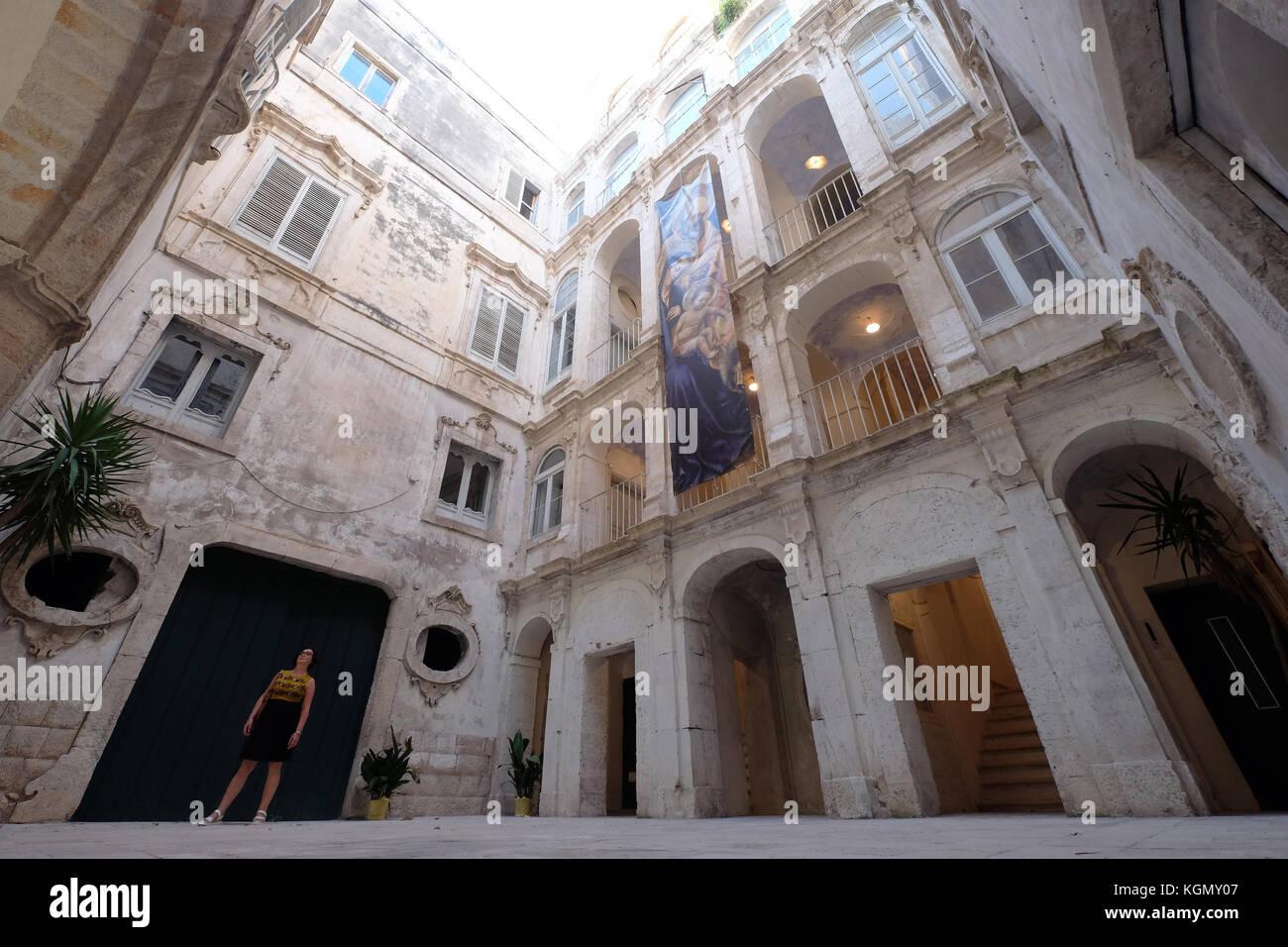 Palazzo Palmieri. monopoli. puglia italia Immagini Stock