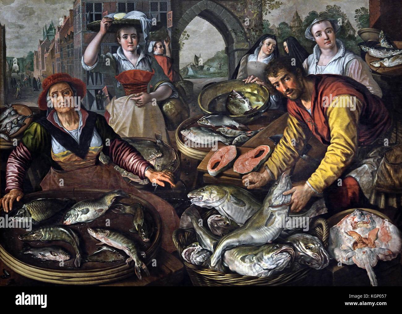 I quattro elementi : acqua 1570 Joachim Beuckelaer 1533 - 1575 Fiammingo Belgio Belgio Immagini Stock