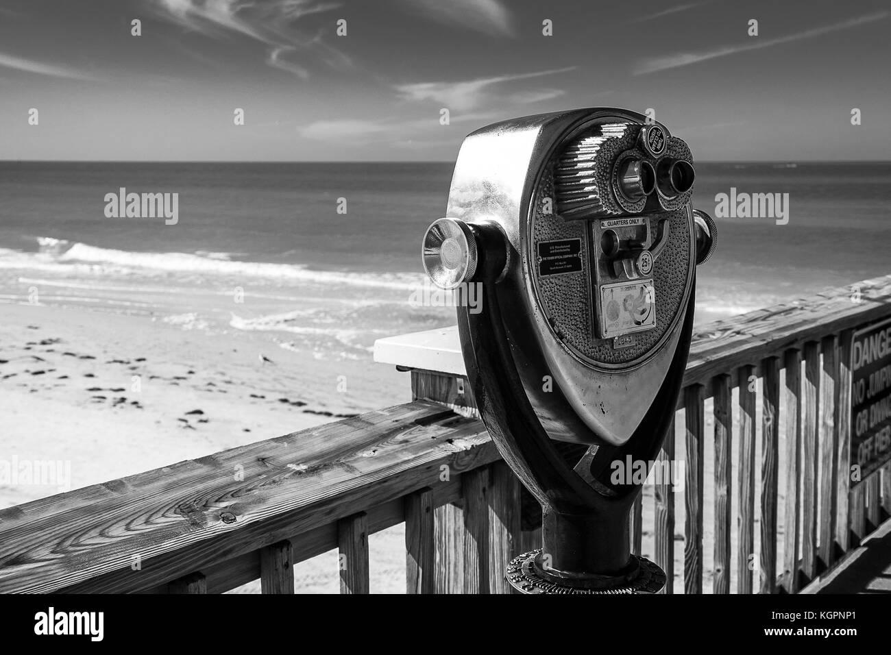 Mirino, la pesca del molo, fort mayers, Florida. Immagini Stock