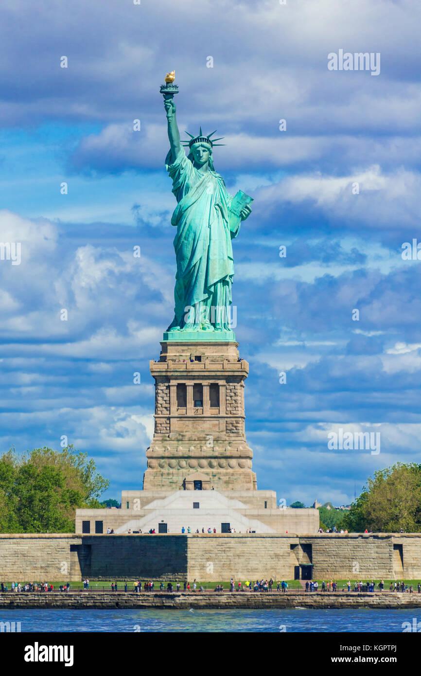 Statua della Libertà di New York la Statua della Libertà New York City Statua di Liberty Island nello Immagini Stock