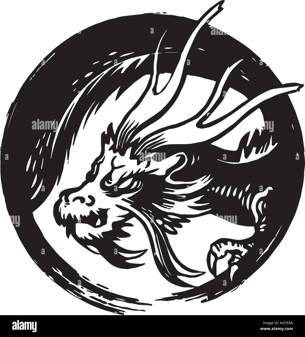Drago disegno vettoriale illustrazione