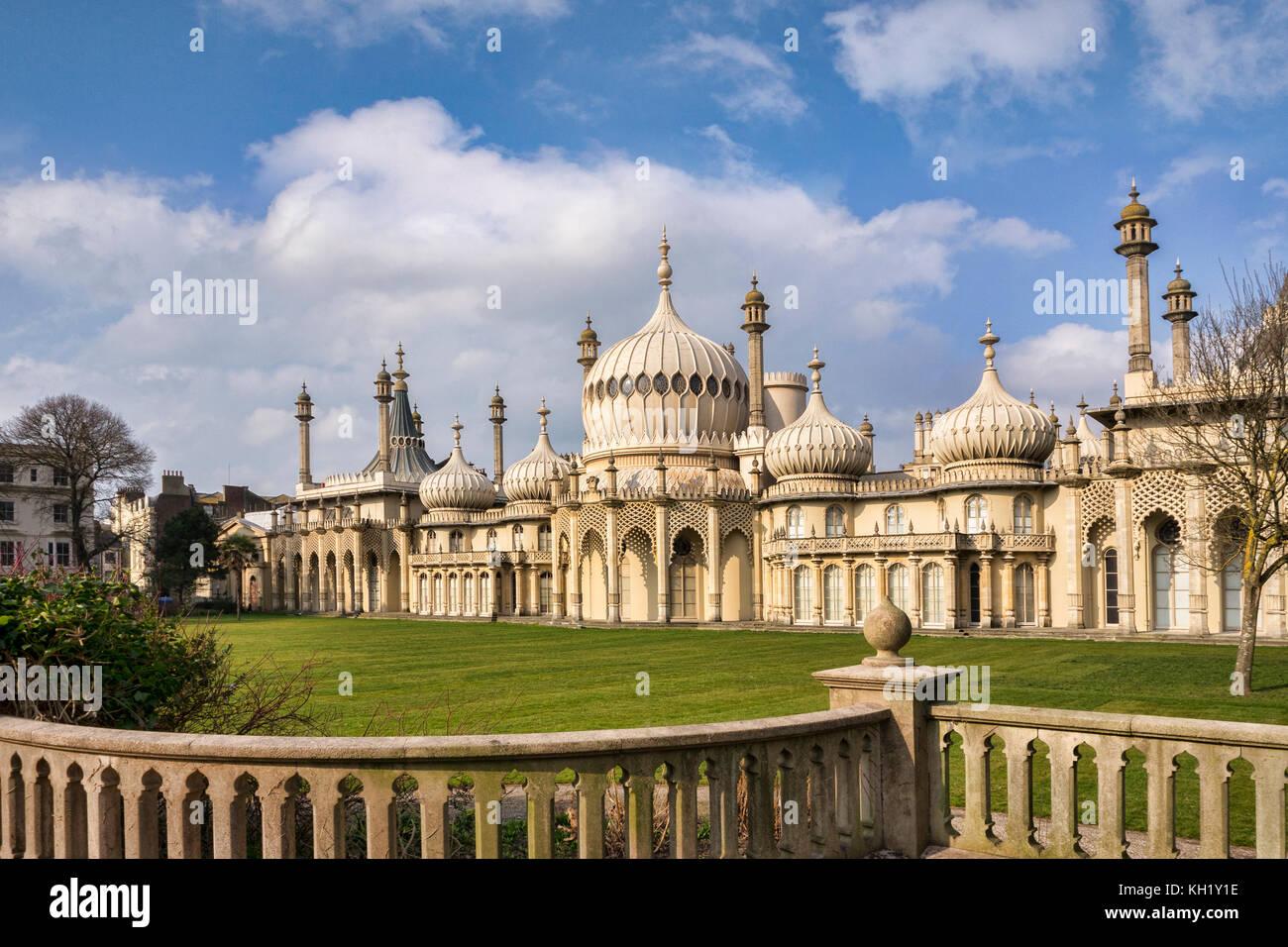 Il Royal Pavilion, Brighton, Sussex, Inghilterra, Regno Unito. Immagini Stock