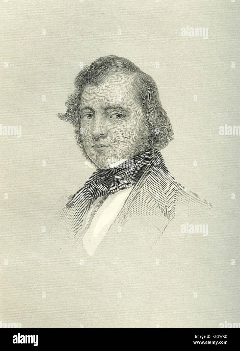 Samuel amante, cantautore irlandese, compositore, scrittore e pittore, nonno di Victor Herbert Immagini Stock
