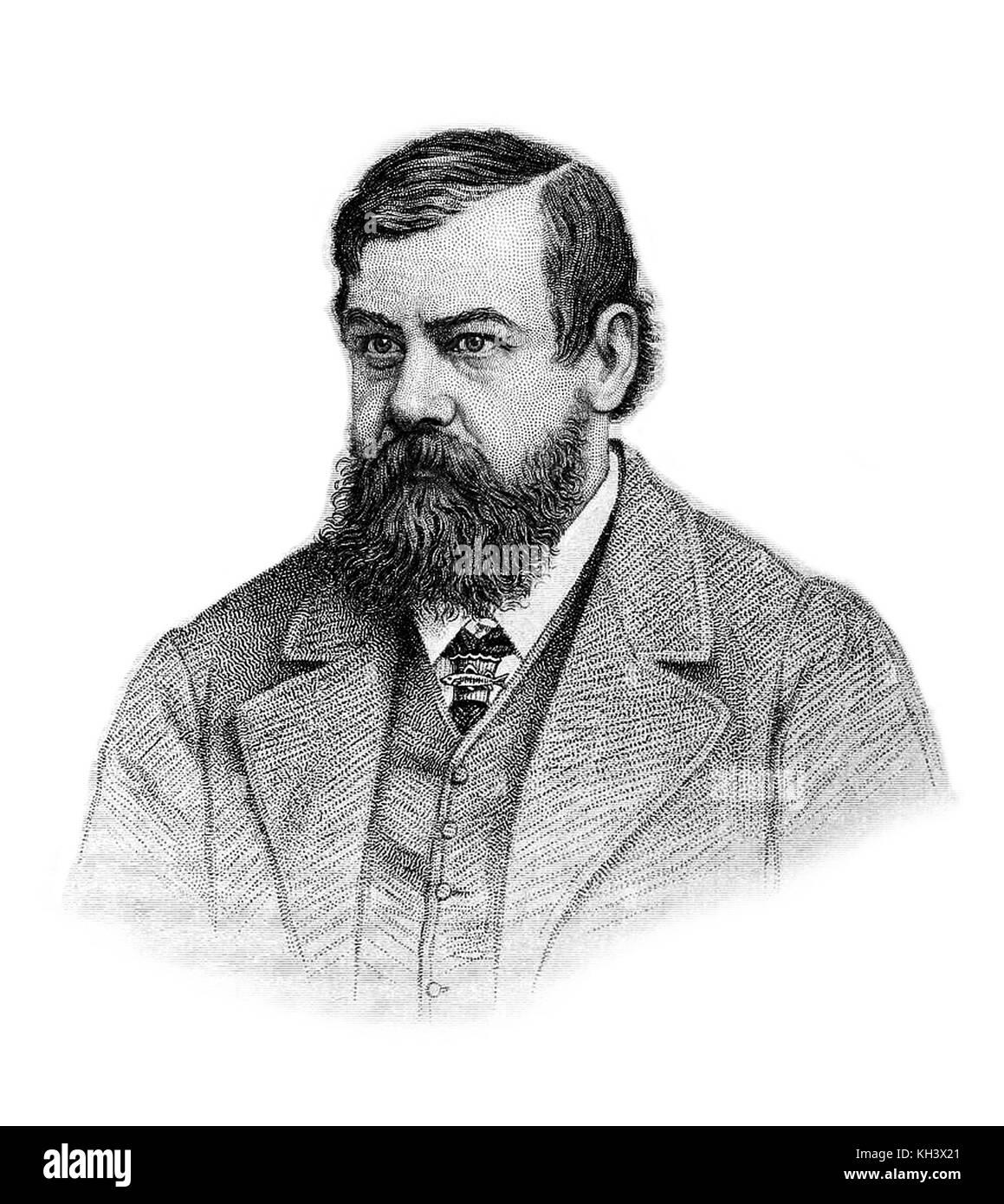 Francesco trevelyan buckland, noto come frank buckland, chirurgo inglese, autore e storico naturale Immagini Stock