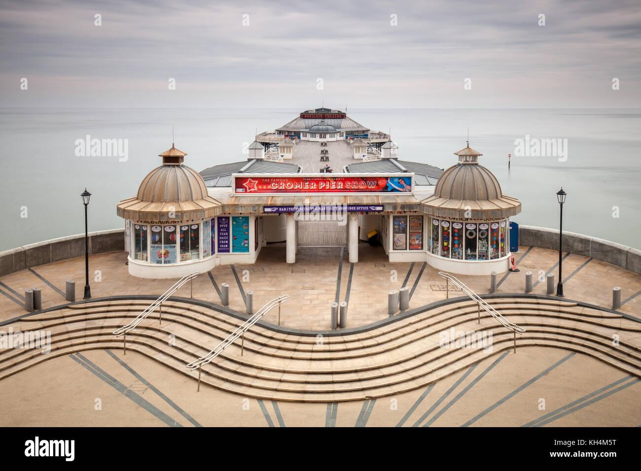 Cromer Pier, Norfolk, Regno Unito Immagini Stock