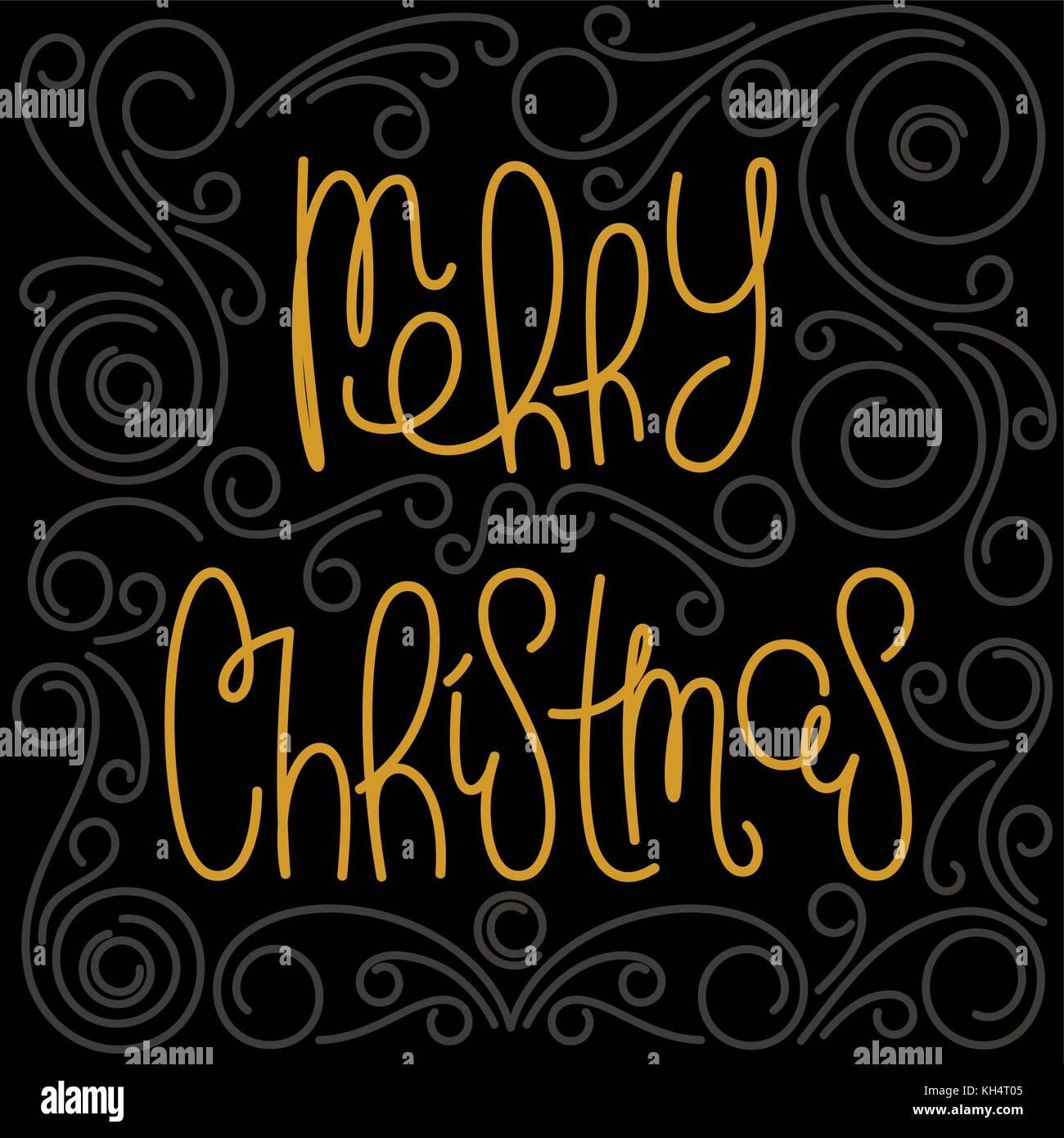 Buon Natale Originale.Buon Natale Lineare Caratteri Scritti A Mano Con Un Originale