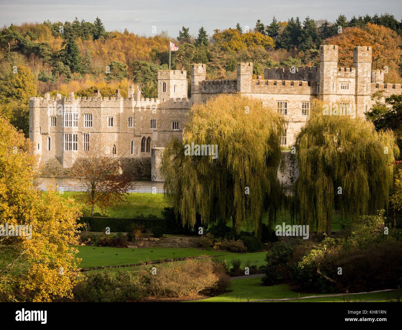 Il castello di Leeds, Maidstone, Kent, Regno Unito Immagini Stock