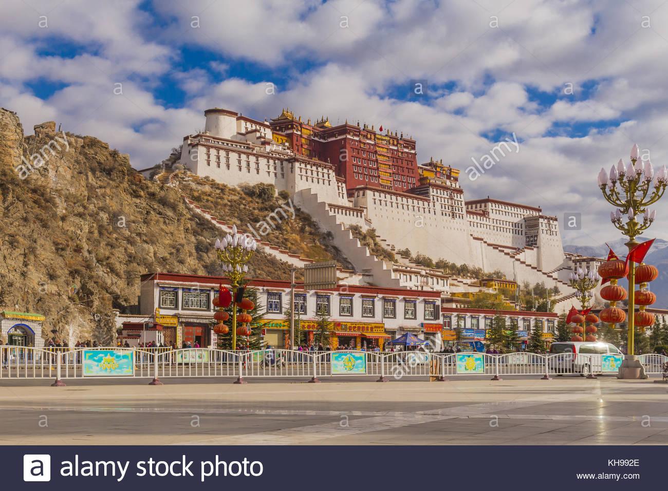 Il palazzo del Potala in Tibet Immagini Stock