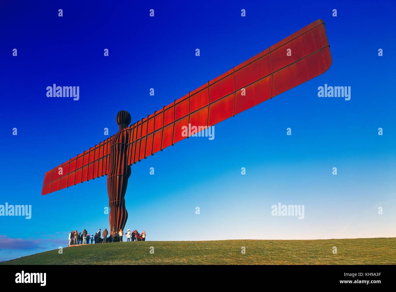 Angelo del nord gateshead tyne and wear England Regno Unito Immagini Stock