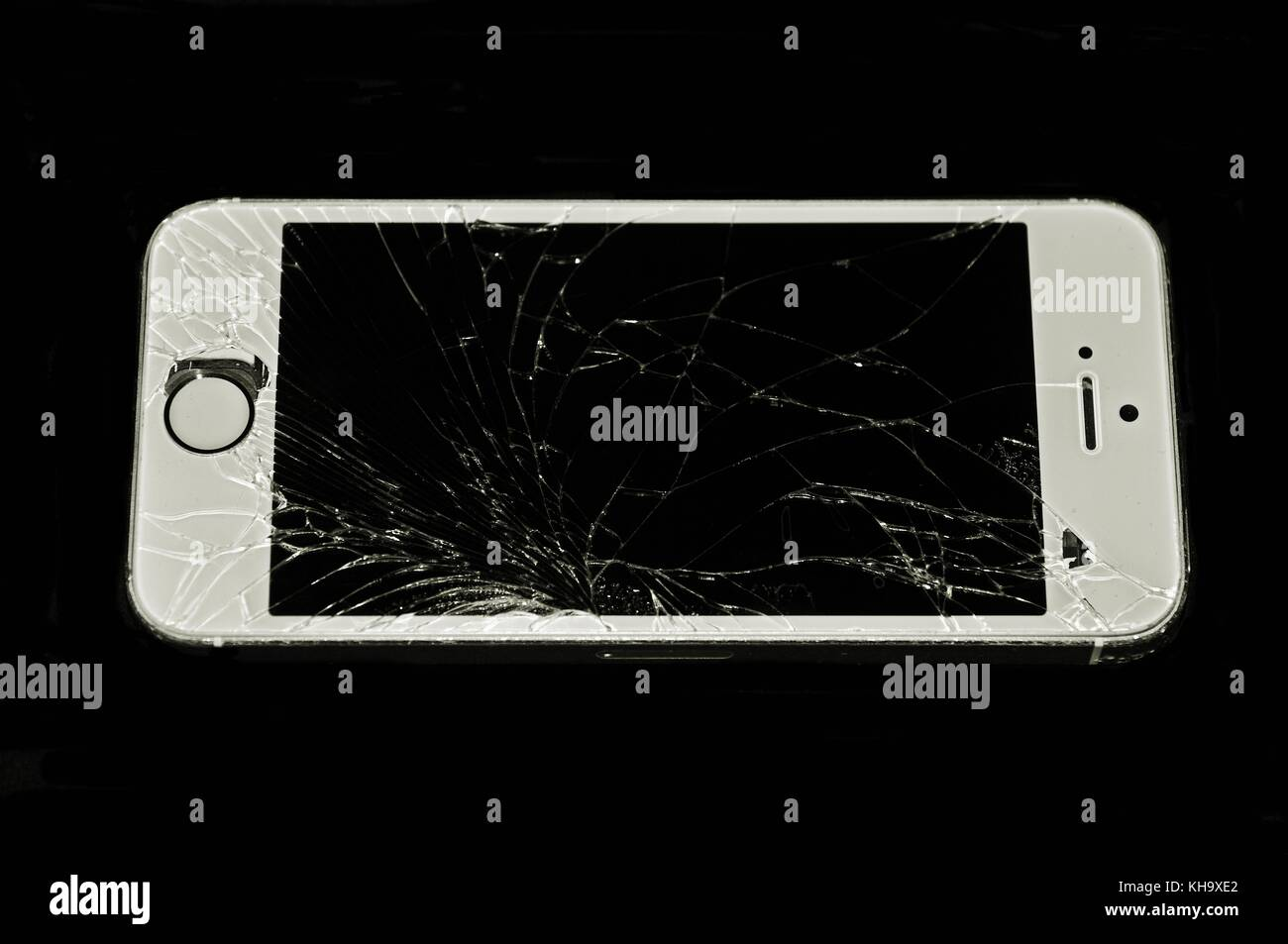 Rotto o incrinato telefono Immagini Stock