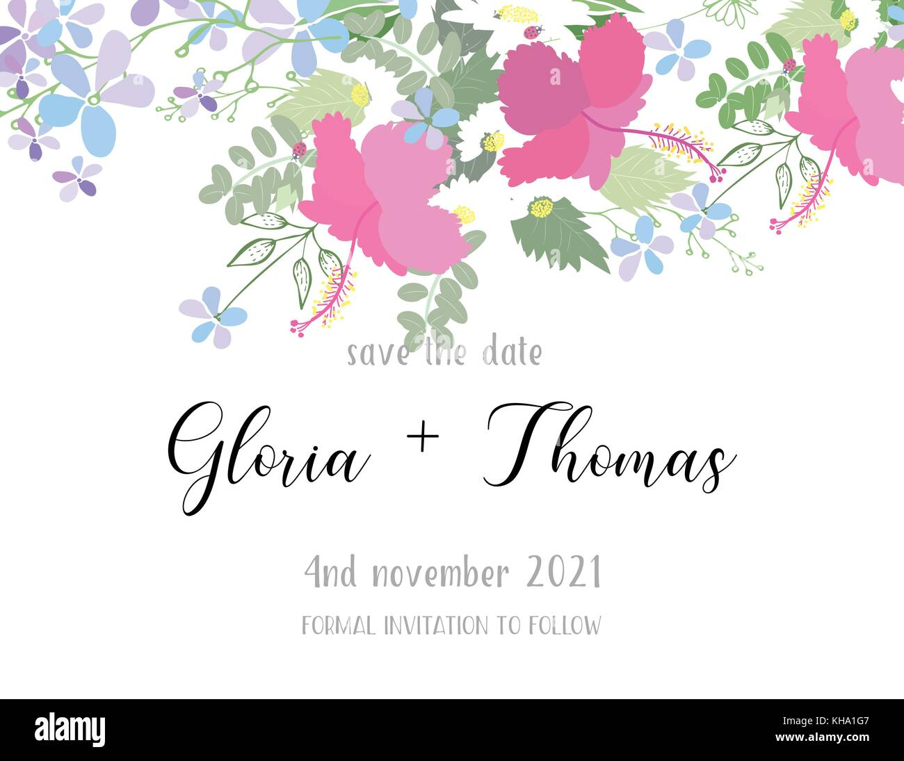 Biglietto Di Auguri Per Il Giorno Del Matrimonio Illustrazione