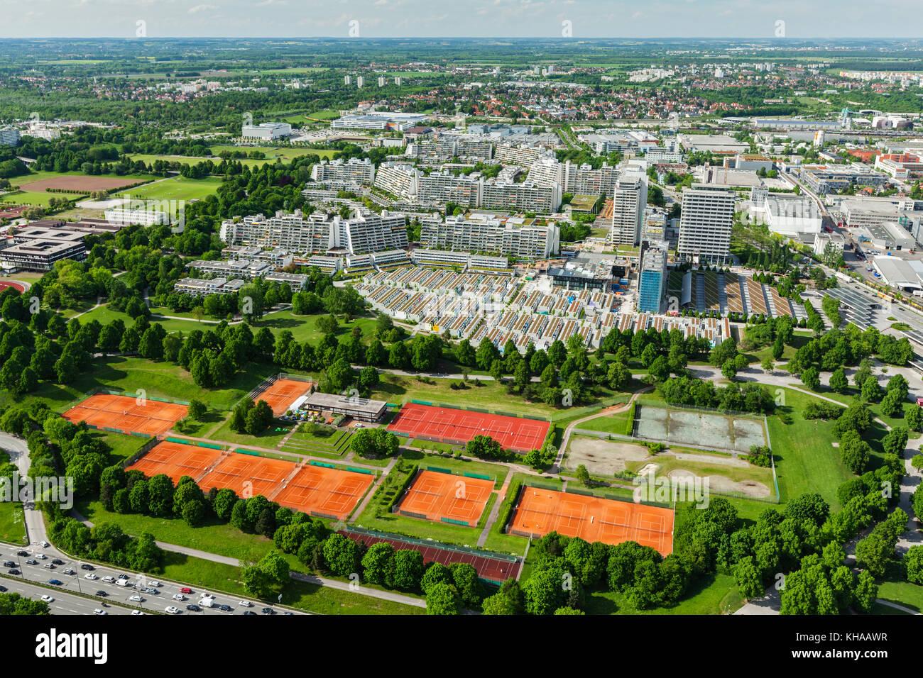 Vista aerea di Monaco di Baviera, Germania Immagini Stock