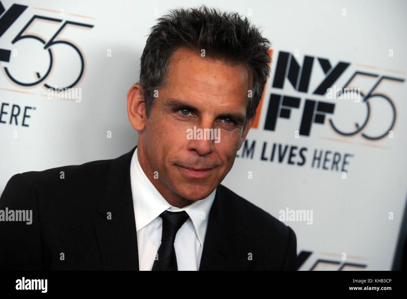 "New york, ny - 01 ottobre ben stiller assiste 'meyerowitz storie di screening"" durante il cinquantacinquesimo new Foto Stock"