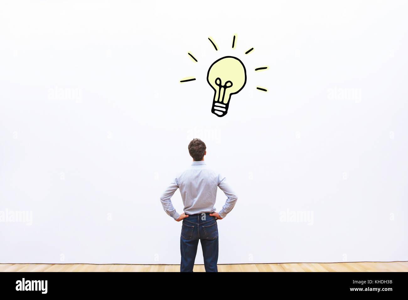 Concetto di nuova idea di business o di innovazione e creatività Immagini Stock