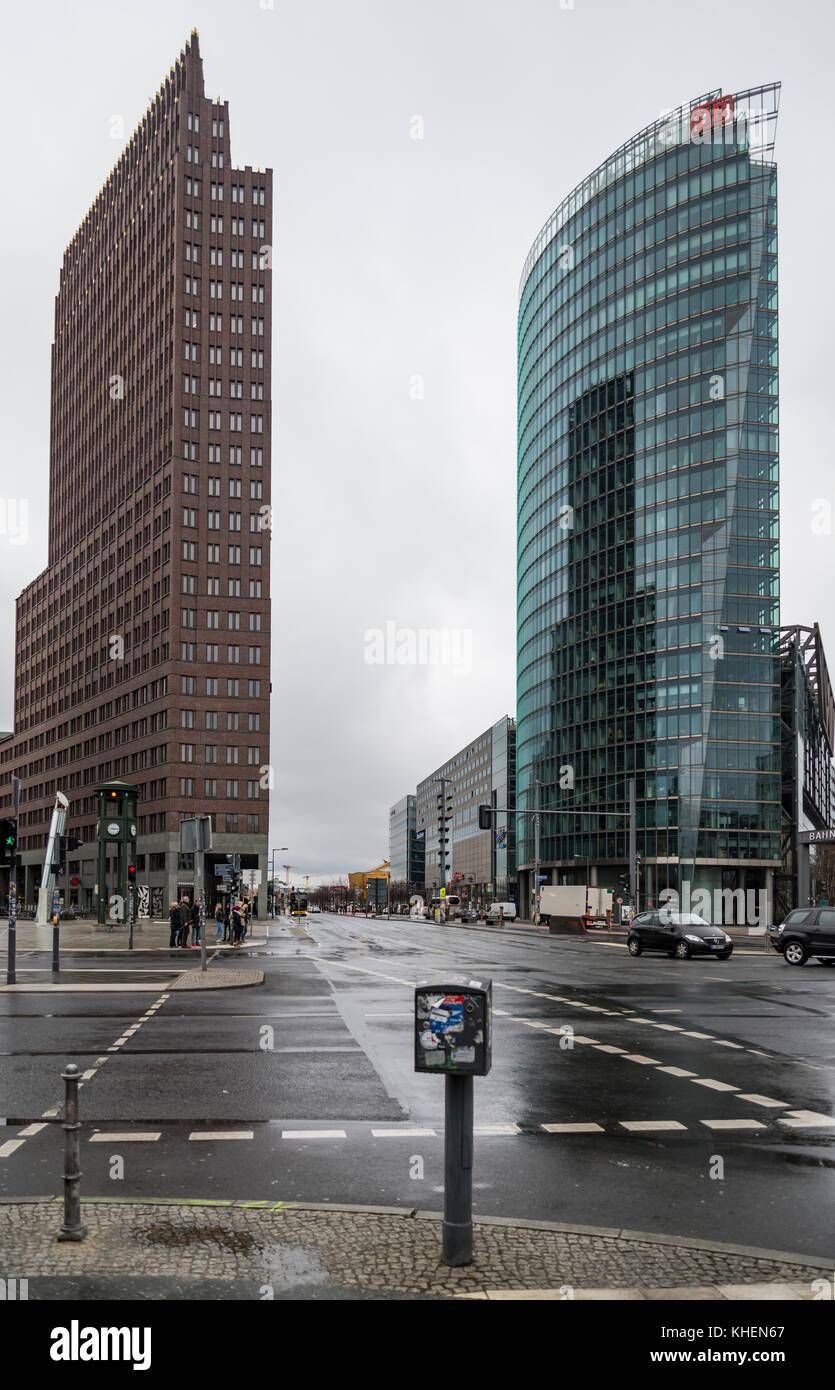 La Potsdamer Platz di Berlino Immagini Stock