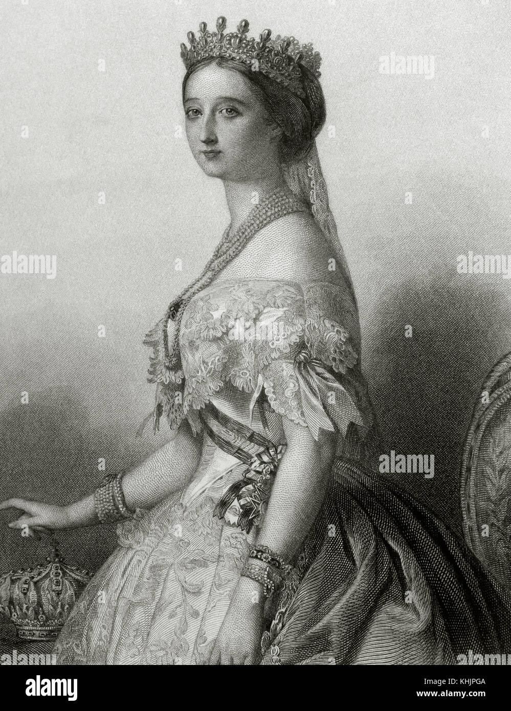 Eugenia de Montijo (1826-1920), XVI contessa di Teba, xv marchesa di ardales (1826-1920). ultima imperatrice consorte Immagini Stock