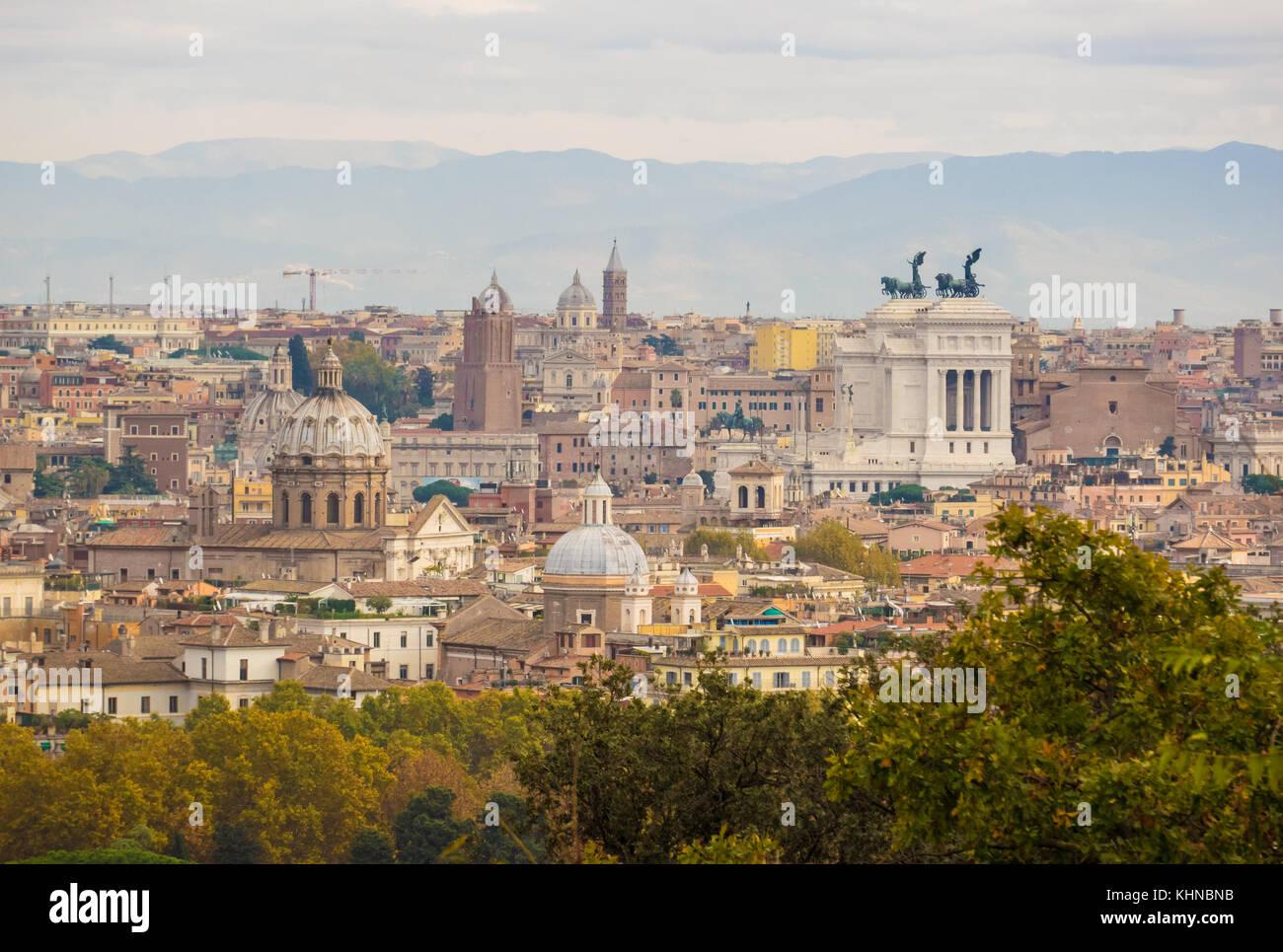 Roma Italia Dal Colle Del Gianicolo E Terrazza Foto