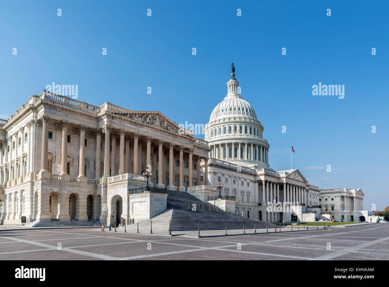La facciata est del Campidoglio degli Stati Uniti, Washington DC, Stati Uniti d'America Immagini Stock