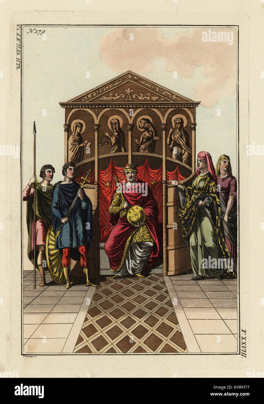 Carlo il Calvo (823-877). Re della parte ovest della Francia, Italia e Imperatore del Sacro Romano Impero. Egli Immagini Stock