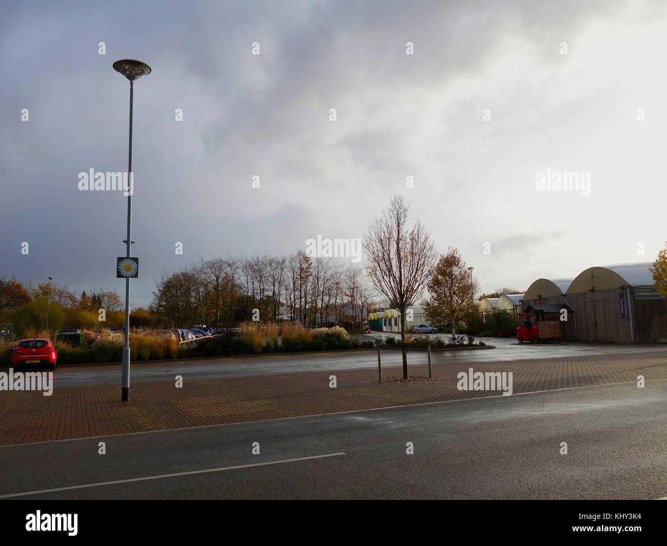 Parcheggio meteo ambiente Immagini Stock