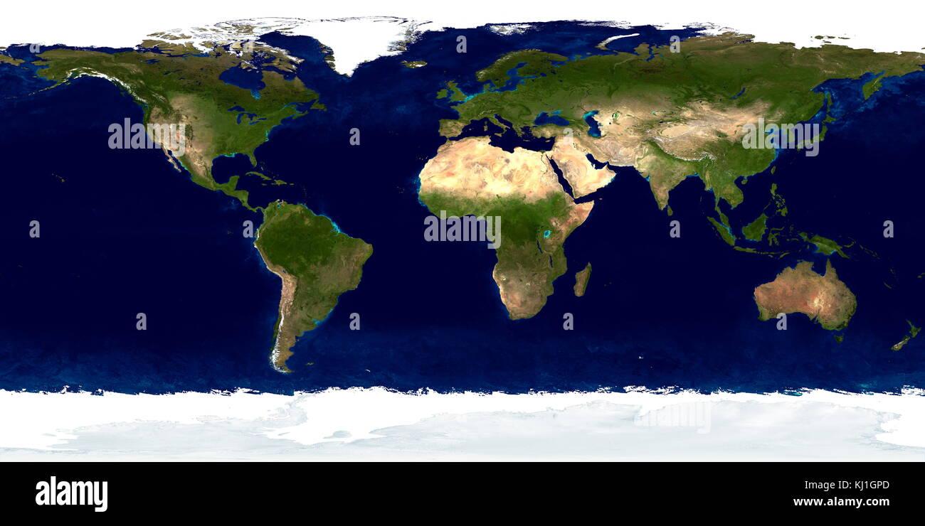 Dettagliata di vera immagine a colori di tutta la terra. utilizzando una collezione di basato su satellite, osservazioni Immagini Stock