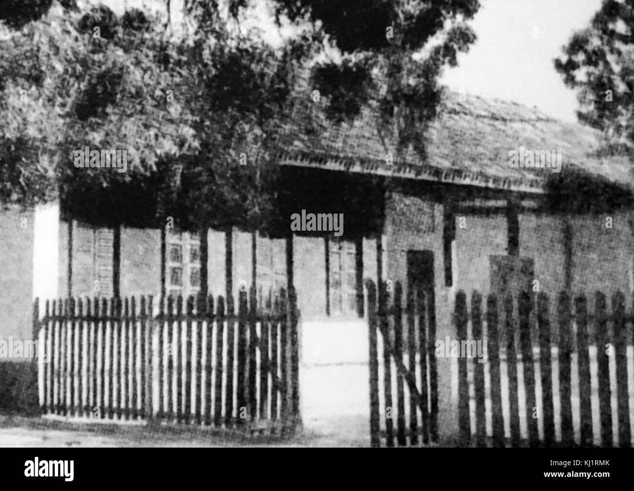 Sabarmati ashram (noto anche come Gandhi Ashram), fu una delle residenze di Mohandas Karamchand Gandhi, generalmente Immagini Stock