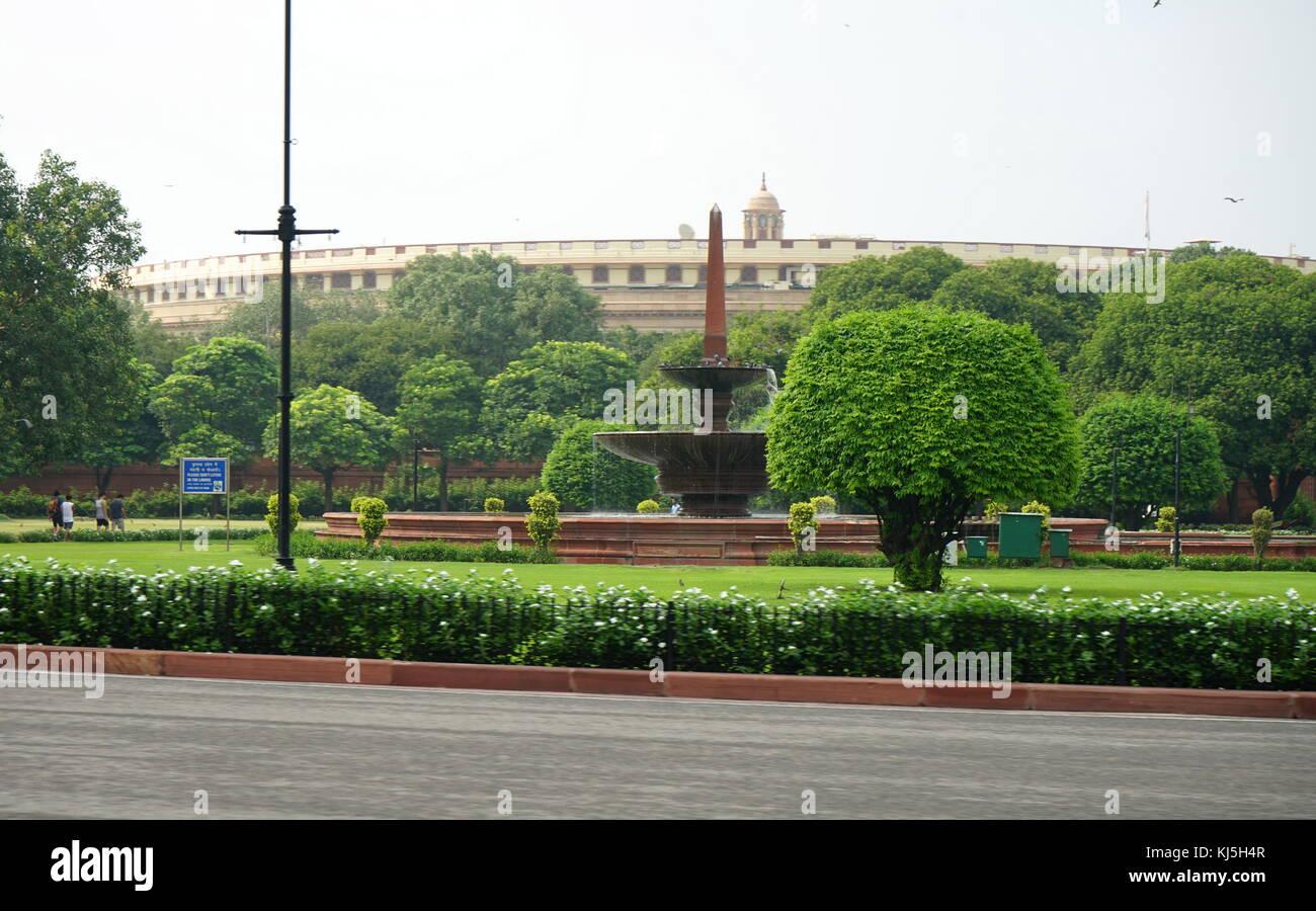 Il Lok Sabha (Camera Bassa del parlamento indiano), a sansad bhavan, sansad marg, New Delhi, India Immagini Stock