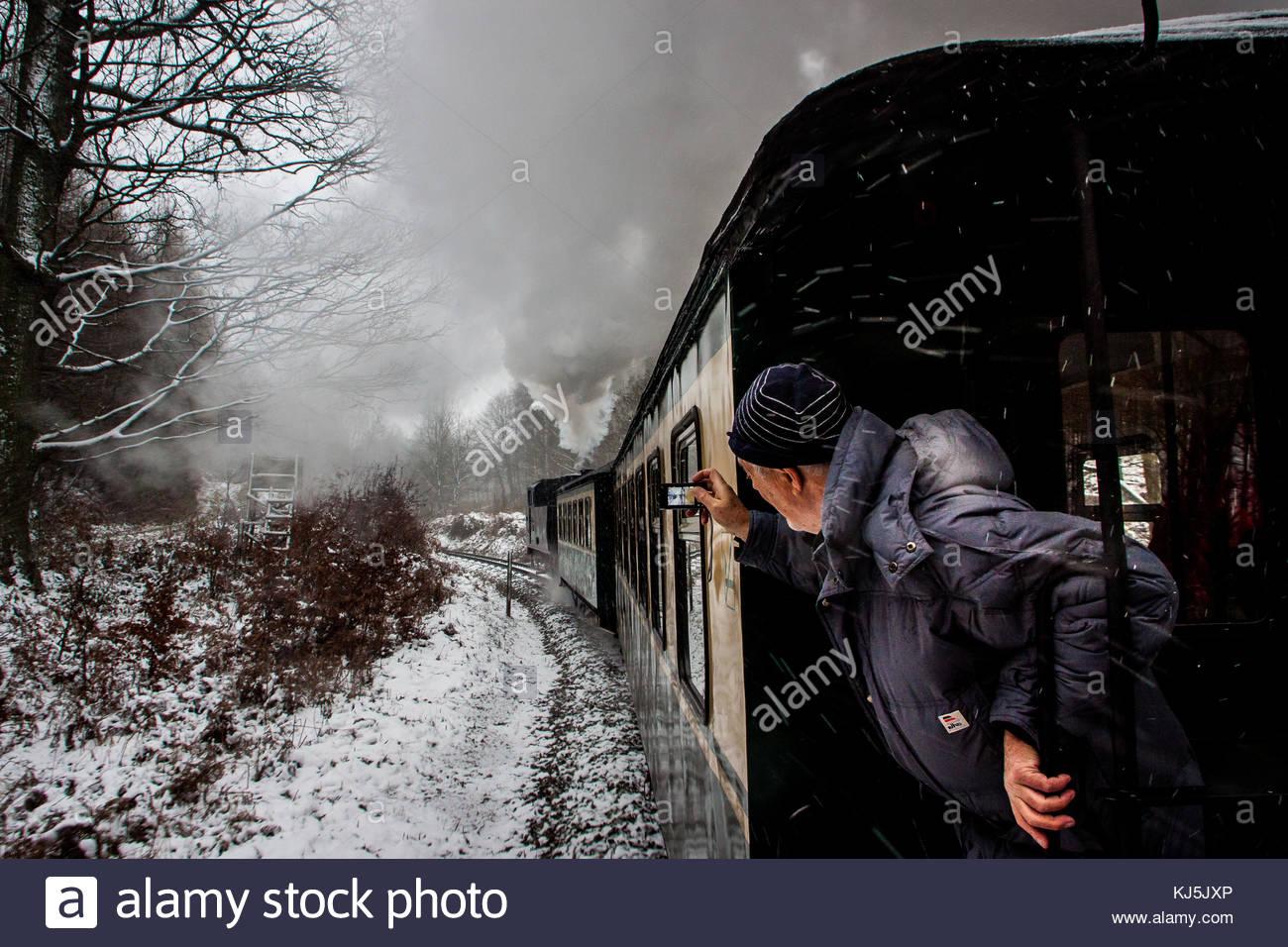 Snow express Orlando furioso Immagini Stock