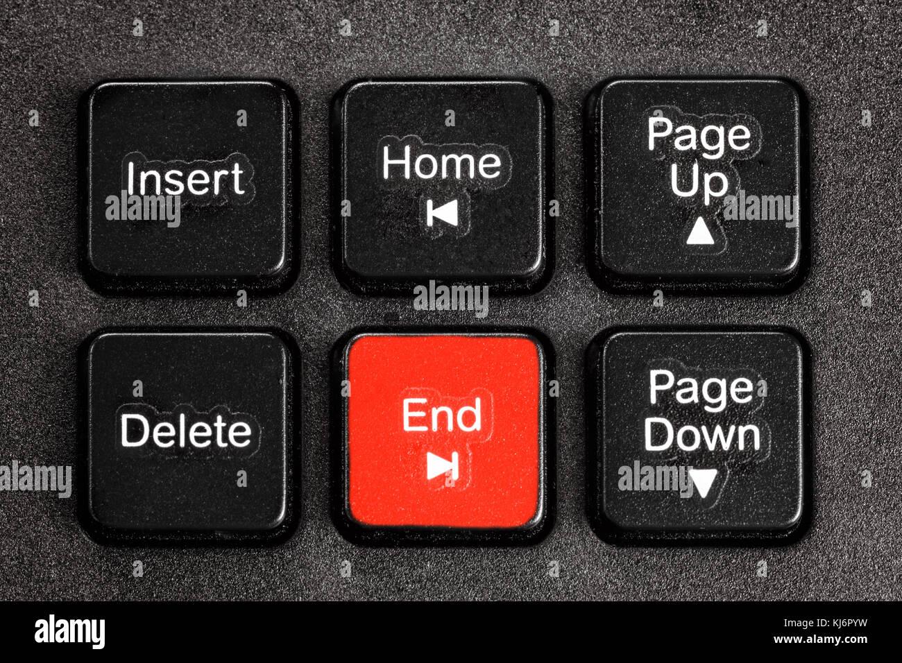 Accent pulsante fine della tastiera Immagini Stock