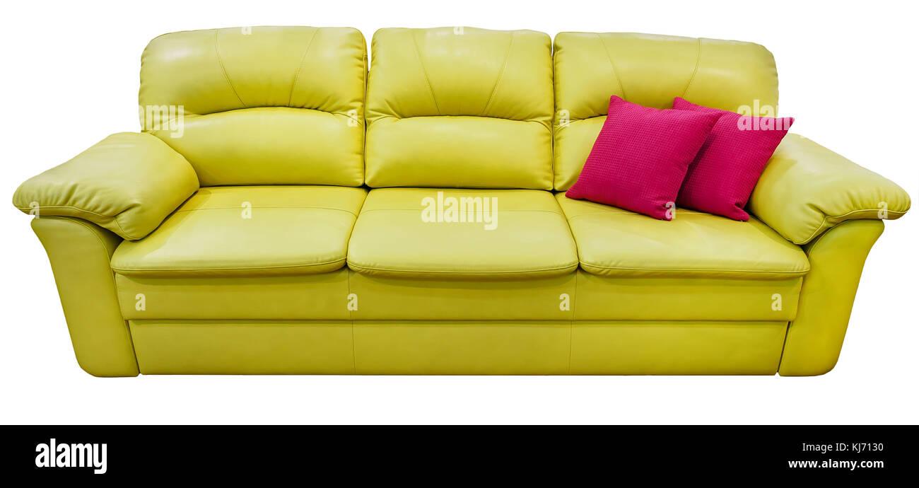 Verde Lime Divano Con Cuscino Rosa Morbido Lettino Di Limone