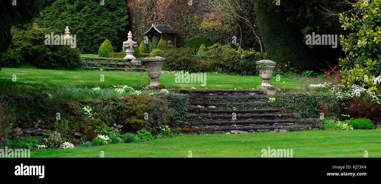 Pendenza, smussata, giardino, giardini, giardinaggio,difficile ...