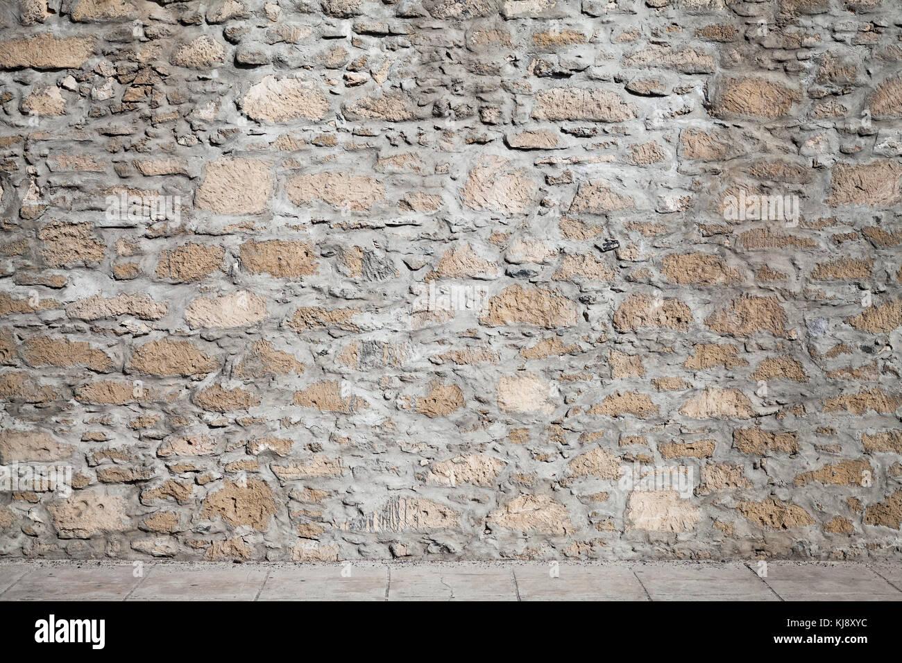 Interno vuoto texture di sfondo ruvido muro di pietra e