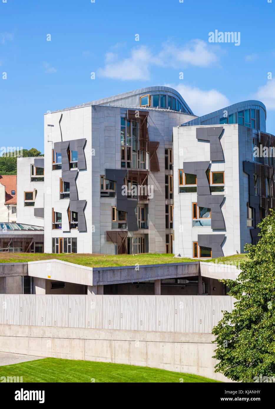 Edificio del Parlamento scozzese di Edimburgo in Scozia edinburgh edificio del parlamento scozzese di Edimburgo holyrood edinburgh Scotland Regno Unito GB Europa Foto Stock