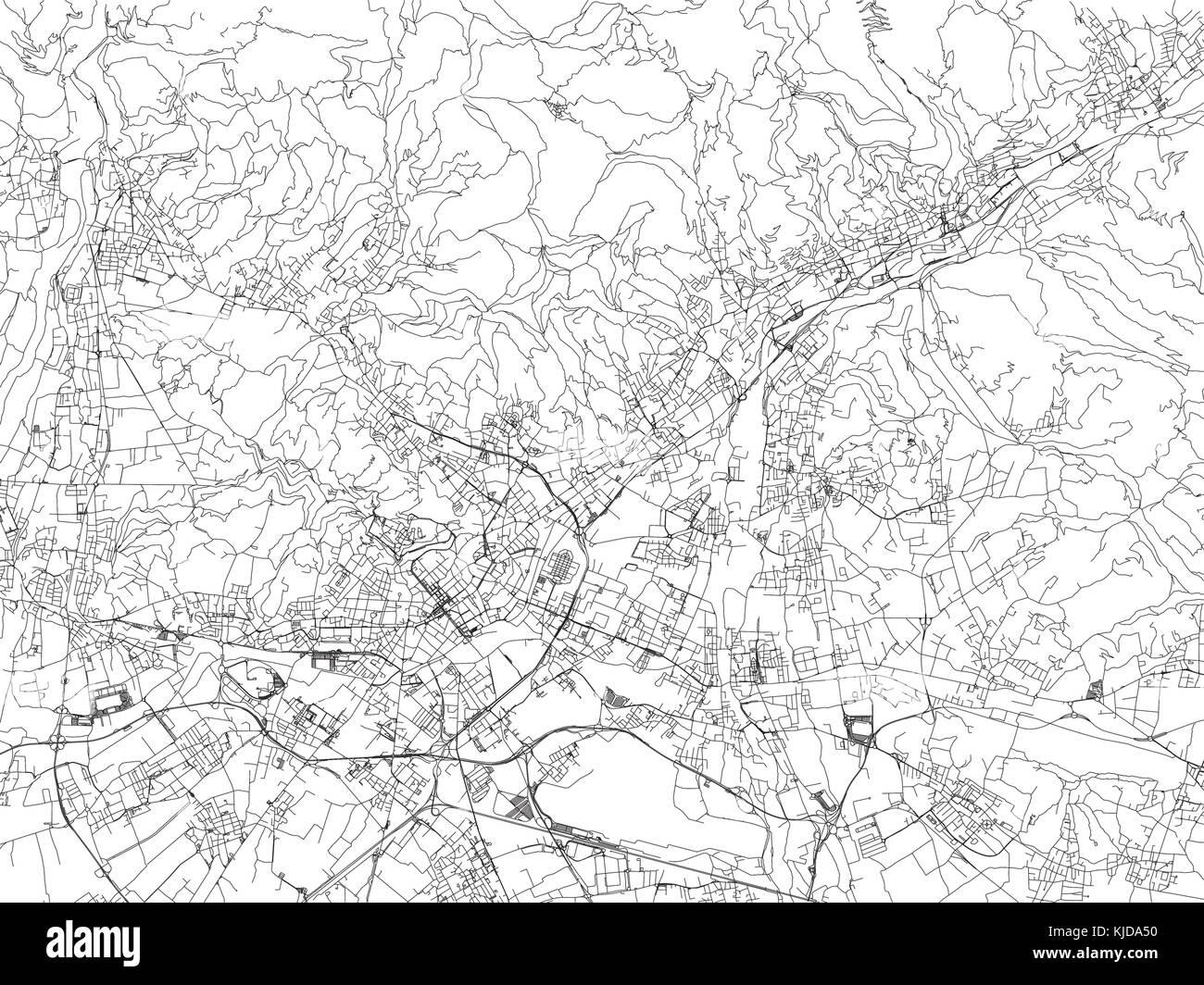 Cartina Autostradale Della Lombardia.Strade Di Bergamo Mappa Della Citta Lombardia Italia Mappa Stradale Immagine E Vettoriale Alamy