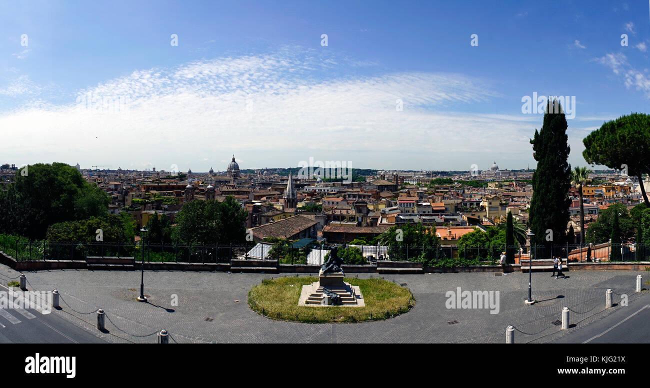 Vista Panoramica Di Roma Dalla Terrazza Chiamato Terrazza