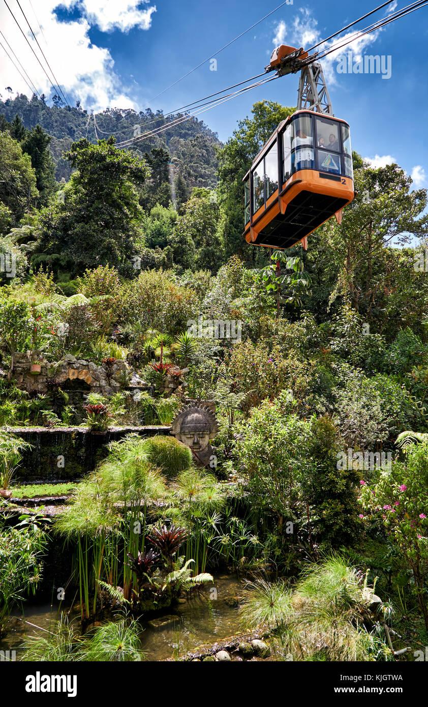 Giardino alla funivia, Bogotà, Colombia, Sud America Immagini Stock