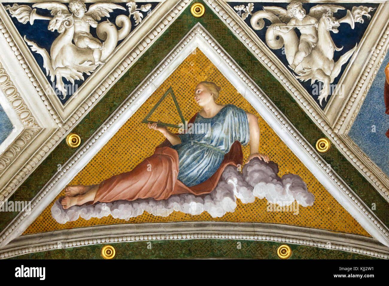 Villa Farnesina a Roma. La Loggia di Galatea. La costellazione del Triangulum. L'Italia. Immagini Stock