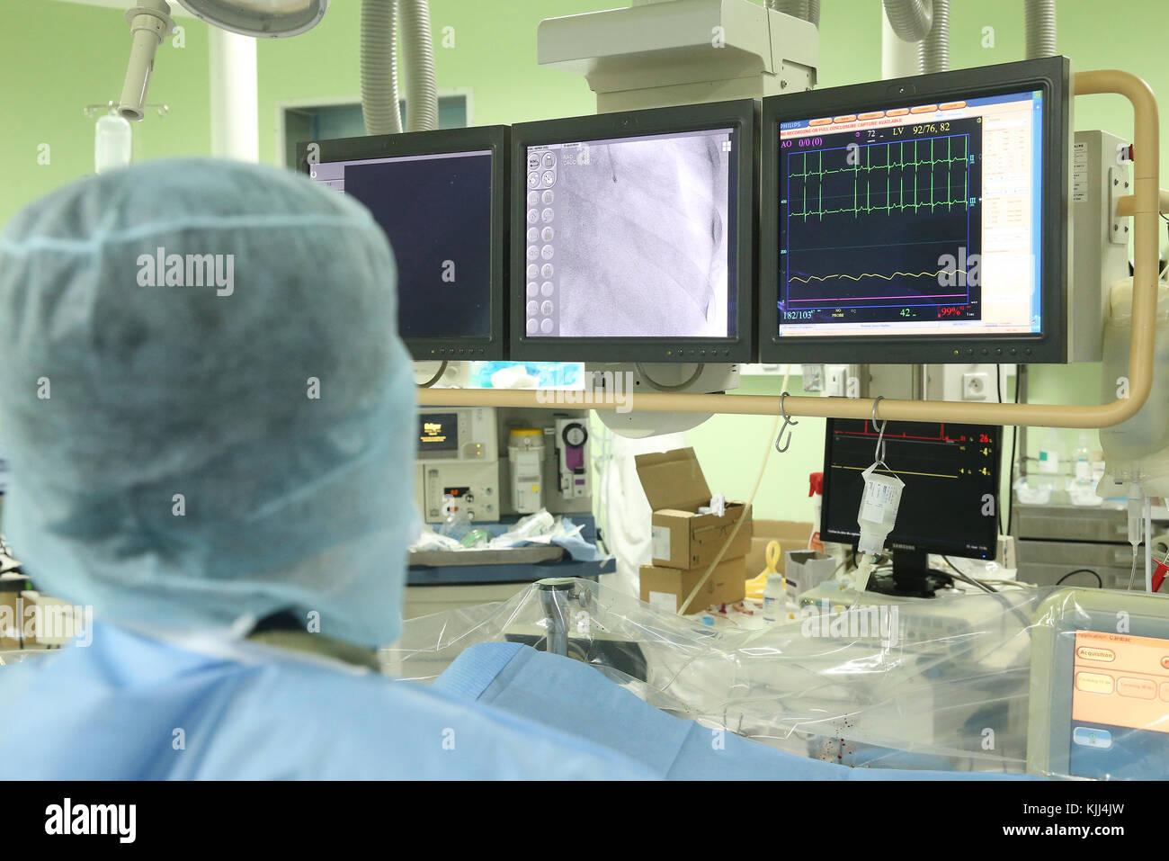 Il Heart Institute offrono elevata qualità della cura di vietnamita di pazienti affetti da malattie del cuore. Immagini Stock