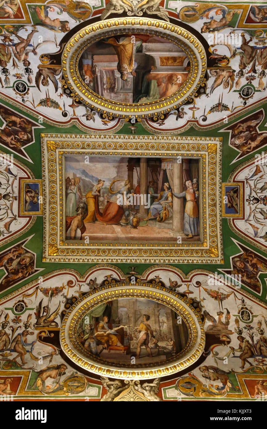 Galleria Corsini, Roma. Soffitto dipinto. L'Italia. Immagini Stock