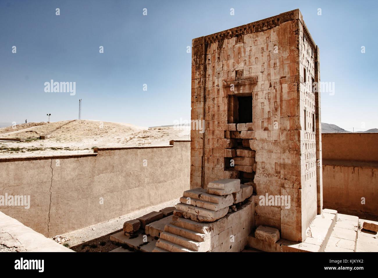 Tempio zoroastriano di fuoco in Naqsh-e rostam Immagini Stock