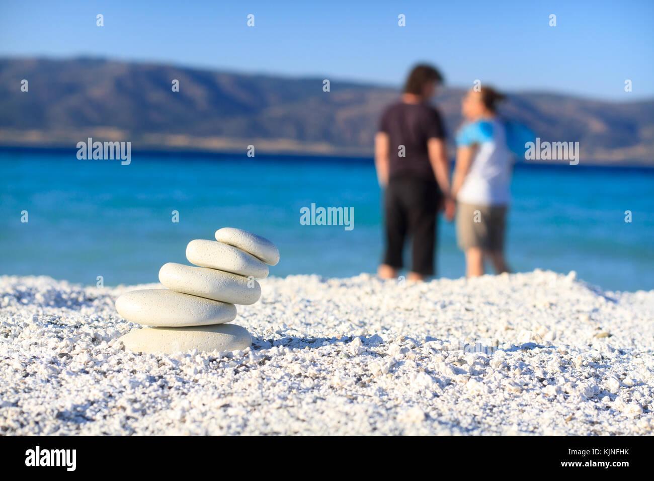 Relexation sulla spiaggia Immagini Stock