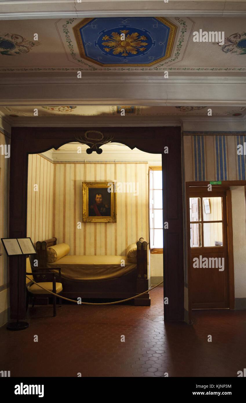 Ajaccio : Maison Bonaparte il museo nazionale, la vista dell\'alcova ...