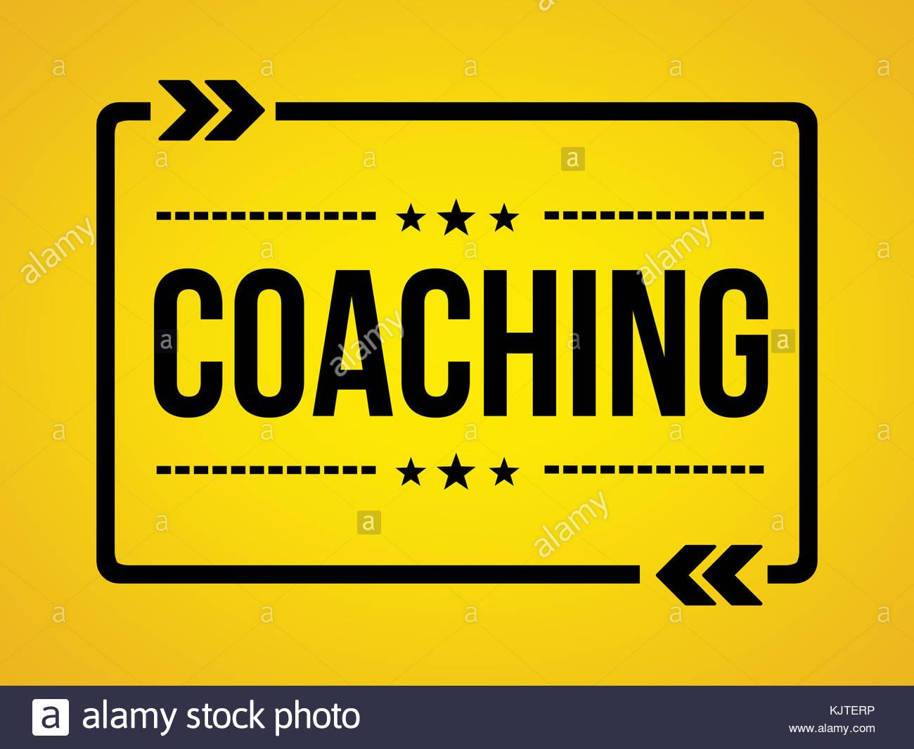 Coaching - messaggio di sfondo Immagini Stock