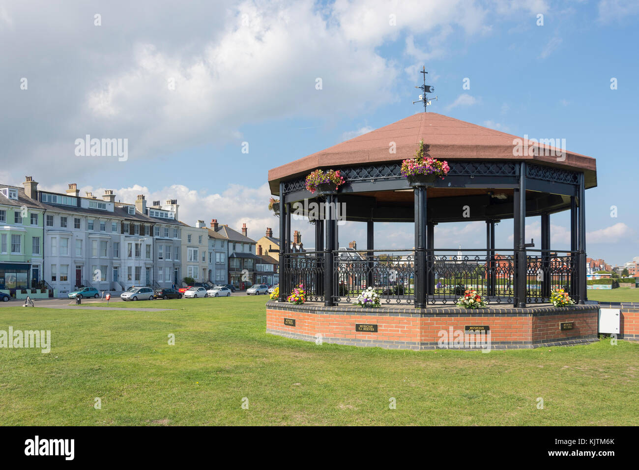 La trattativa Memorial Bandstand, Strand, Ash, England, Regno Unito Immagini Stock