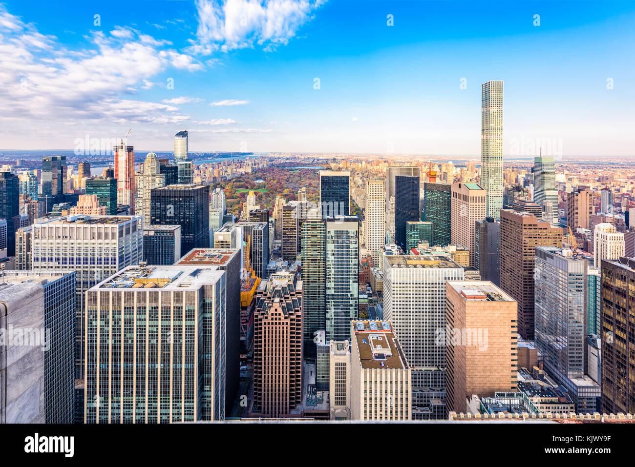 New york, new york, Stati Uniti d'America cityscape di Manhattan. Immagini Stock