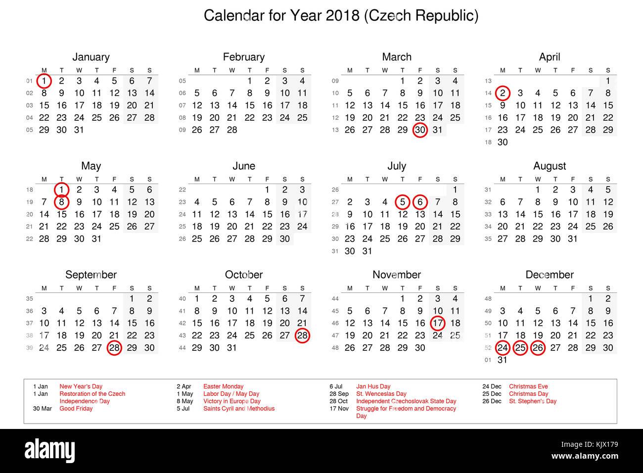 Calendario Repubblica.Calendario Dell Anno 2018 Con Giorni Festivi E Giorni