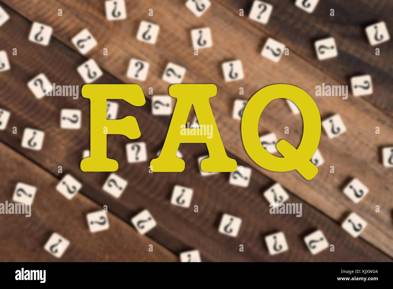 Domande più frequenti faq acronimo testo in vintage